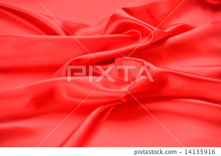 Drape of satin fabric. Note) It is not silky. It is a polyester satin cloth. 14135916