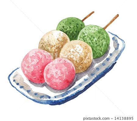 日本甜品大全_和果子日本糖果日式甜点-图库插图[14138895]-PIXTA