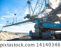 Mining machinery in the mine 14140346