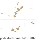 地圖 沖繩縣 琉球 14150007