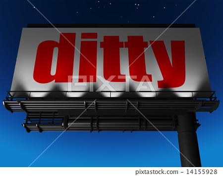 word on billboard 14155928