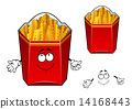 French fries wavy slices cartoon character 14168443