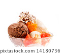 Ice Cream in bowl with fruits 14180736