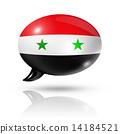 Syrian flag speech bubble 14184521