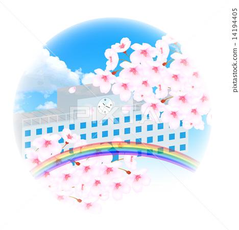 Sakura school background 14194405