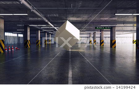 cube in the parking 14199424