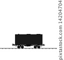 Illustration wagon cargo railroad train, black transportation ic 14204704