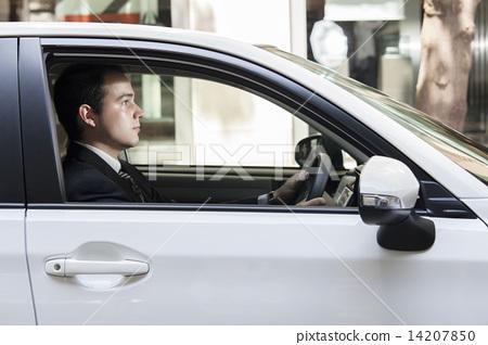 차를 운전하는 외국인 14207850