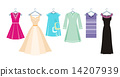 Set of summer and autumn dresses for office 14207939