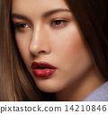 Close Up Portrait of Cute Woman with Perfect Skin 14210846