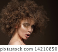 Trendy Charismatic Woman with Frizzy Hairdo 14210850