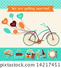 wedding, invitation, retro 14217451