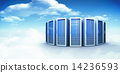 Composite image of server towers 14236593