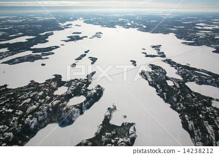 세계에서 가장 긴 얼음 길 캐나다 아이스로드 전모 공중 촬영 canada ice rord 14238212