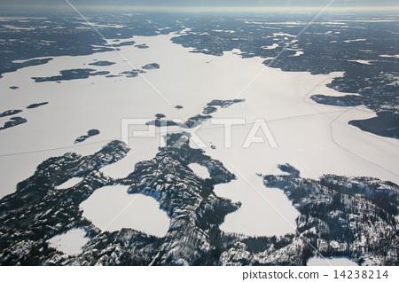 세계에서 가장 긴 얼음 길 캐나다 아이스로드 전모 공중 촬영 canada ice rord 14238214