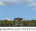 A monitoring base for the beach that is active in the summer backed by the blue sky 14240742