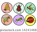 A Set of Insects on Round Background 14241468
