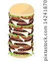 大 汉堡 奶酪 14241870