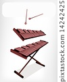 Two Retro Xylophone with A White Banner 14242425