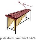 A Musical Marimba Isolated on White Background 14242426