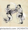 Karate - Hand drawn (calligraphic) vector 14248470