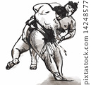Sumo. Hand drawn vector in calligraphic style (converted) 14248577