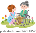 nursing, senior, wheelchair 14251857