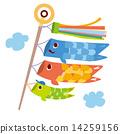 儿童节 矢量 飘扬的旗幡 14259156