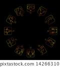 Zodiac on dark background 14266310