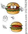 汉堡 奶酪 芝士 14276629