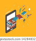 smartphone, 3d, book 14284832