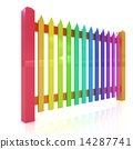 fence, colorfull, glossy 14287741