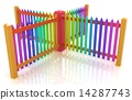 fence, colorfull, glossy 14287743