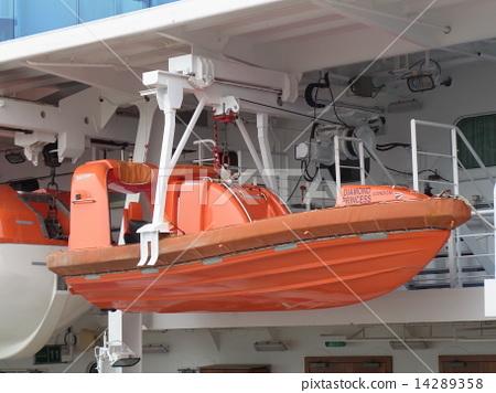 """郵輪""""鑽石·公主""""的安全設備:救生艇(投標船) 14289358"""
