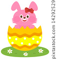 Rabbits in Easter eggs 14292529
