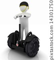 3d white person riding on a personal and ecological transport 14301750