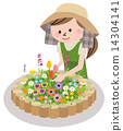 矢量 园艺 花园 14304141