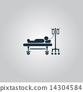 Illustration of Life icons, hospitalized 14304584