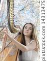 하프를 연주하는 여성 자 Women who play the harp 14313475