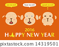 three, wise, monkeys 14319501
