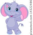 Cute elephant 14322486