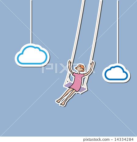 Girl swing in sky 14334284