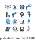 Business concept icon set 14341081