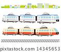 矢量 火車 電氣列車 14345653