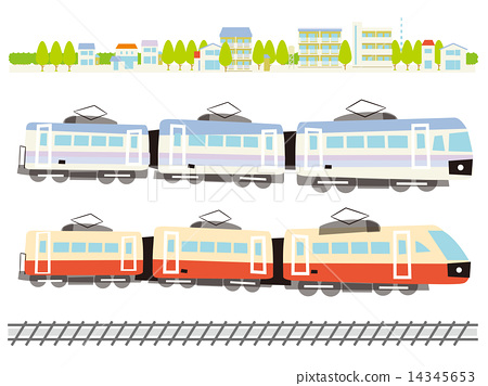 2 types of train and scenery and track 14345653