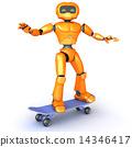 robot, skate, skateboard 14346417