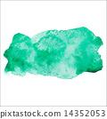 สีน้ำ,คราบ,รอยเปื้อน,สีเขียว 14352053