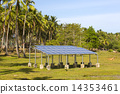 solar battery panel on the nature of the jungle 14353461