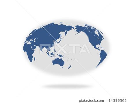 World map an ellipse an oval stock illustration 14356563 pixta world map an ellipse an oval 14356563 gumiabroncs Gallery