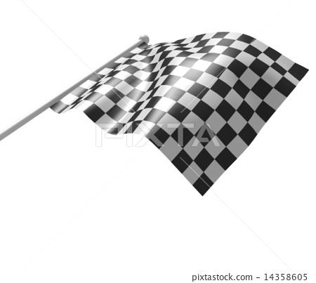 Checkered flag 14358605